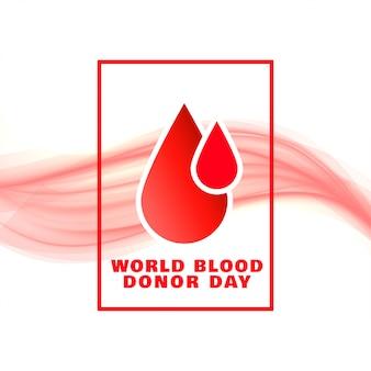 Światowy dzień dawcy krwi wydarzenie koncepcja plakat projekt