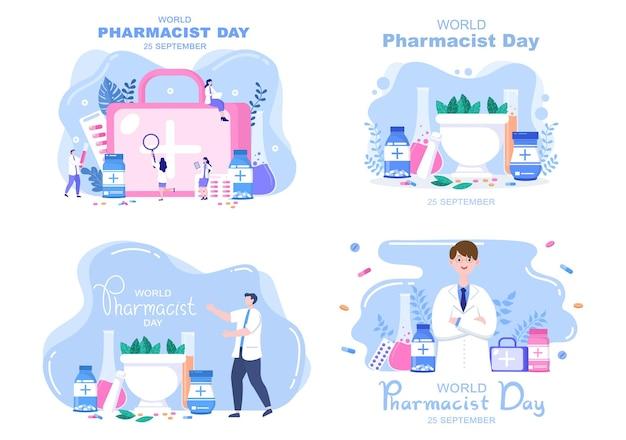 Światowy dzień farmaceutów ilustracja wektorowa