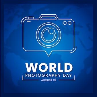 Światowy dzień fotografii płaska konstrukcja