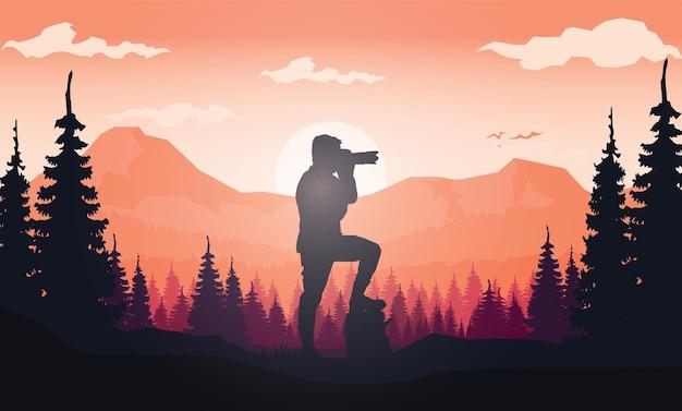 Światowy dzień fotografii w tle
