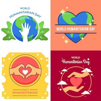 Światowy dzień humanitarny ilustracja
