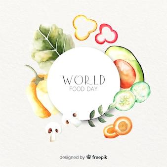 Światowy dzień jedzenia z pysznymi zdrowymi warzywami