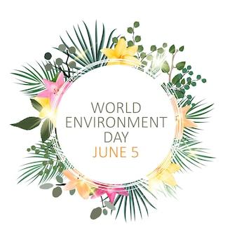Światowy dzień koncepcja tło środowiska.