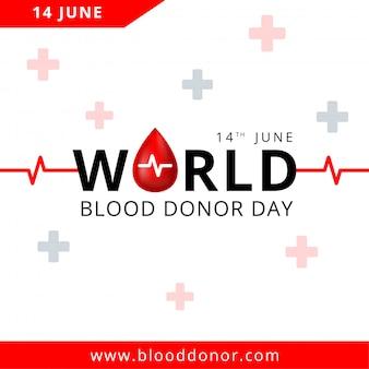 Światowy dzień krwiodawcy, 14 czerwca ilustracja koncepcji oddawania krwi dla transparentu.
