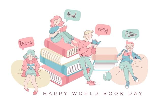Światowy dzień książki czytanie rodziny