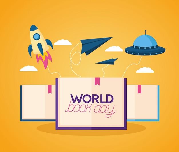 Światowy dzień książki ilustracji
