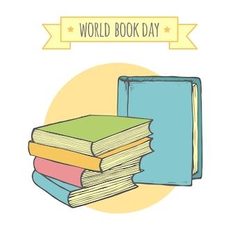 Światowy dzień książki, kreatywne i stylowe tło.