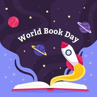 Światowy dzień książki płaski