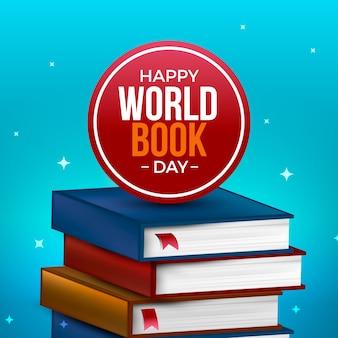 Światowy dzień książki w realistycznym stylu
