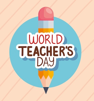 Światowy dzień nauczyciela z ołówkiem