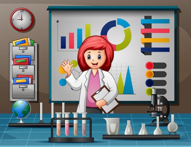 Światowy Dzień Nauki Z Kobietami Naukowcami Premium Wektorów