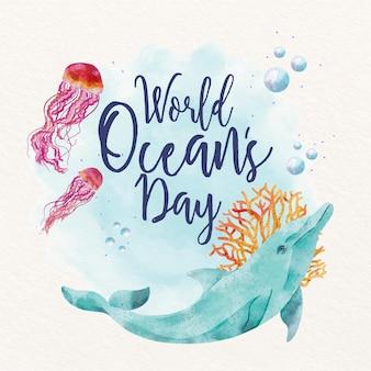 Światowy dzień oceanów ilustracja