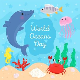 Światowy dzień oceanów z delfinem