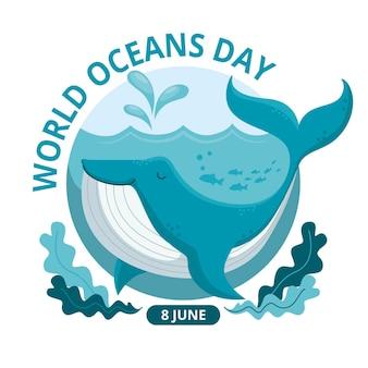Światowy dzień oceanów z wielorybem