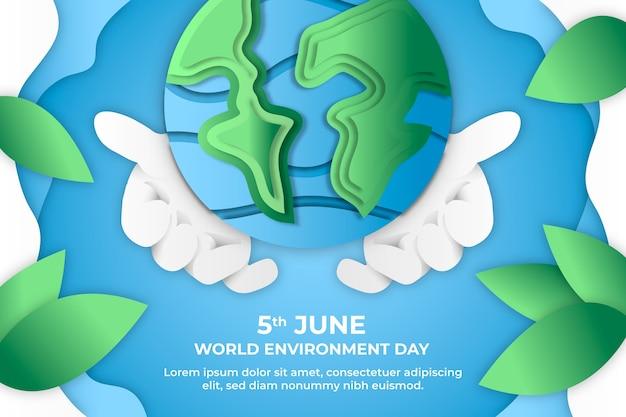 Światowy dzień ochrony środowiska w stylu papierowym