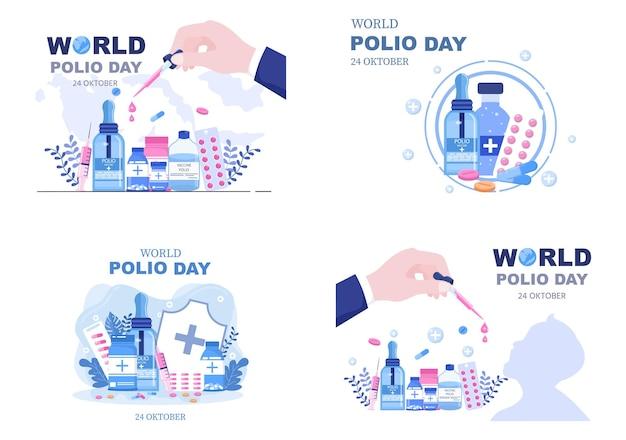 Światowy dzień polio tło wektor ilustracja
