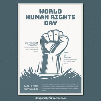 Światowy dzień praw człowieka plakat szablon