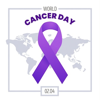 Światowy dzień raka na tle gradientu