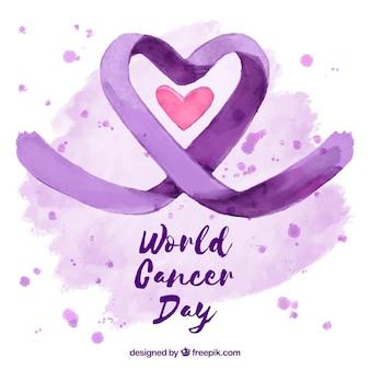 Światowy dzień raka rak akwarelowy