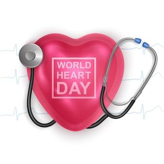 Światowy dzień serca w tle