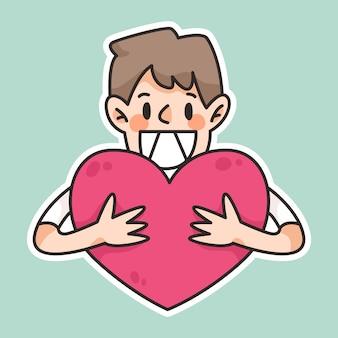 Światowy dzień uśmiechu, uroczy rysunek uśmiechnięty, ludzie uśmiechnięci szczęśliwi, śmiejąc się, korzystający z ilustracji kreskówki światowy dzień serc, uroczy kreskówka serca