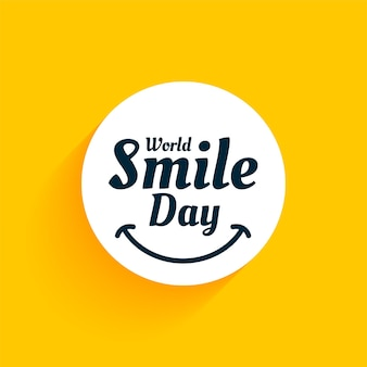 Światowy dzień uśmiechu żółte tło