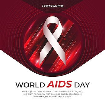 Światowy dzień walki z aids w streszczenie tło