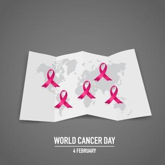 Światowy dzień walki z rakiem tle