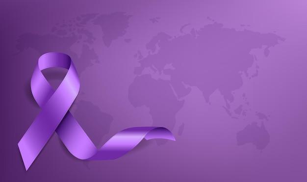 Światowy dzień walki z rakiem wstążką