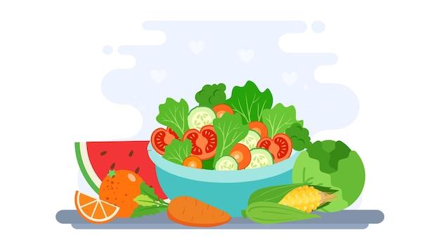 Światowy dzień wegański ilustracja tło