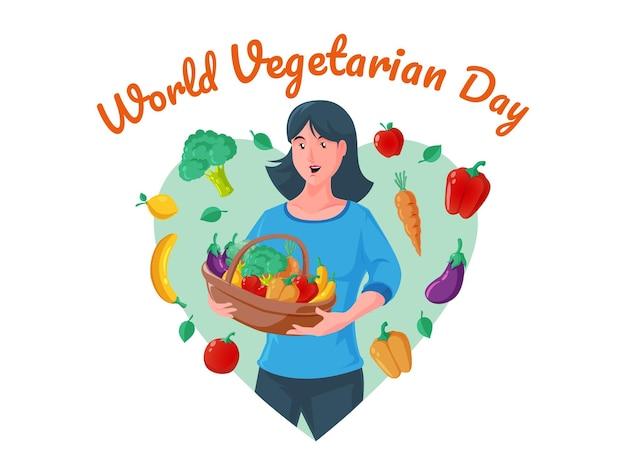 Światowy dzień wegetarianizmu ze zdrowymi kobietami