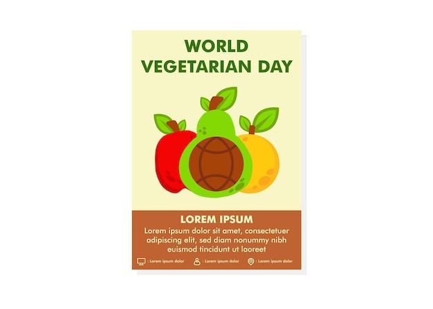 Światowy dzień wegetariański szablon projektu plakatu szablon projektu ulotki