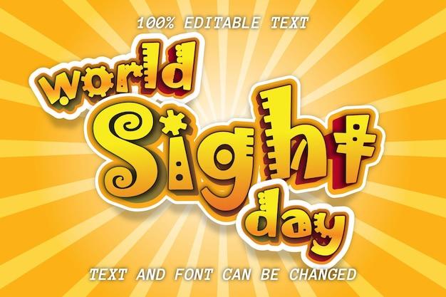 Światowy dzień westchnienia edytowalny efekt tekstowy styl komiksu