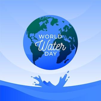 Światowy dzień wody w płaskiej konstrukcji