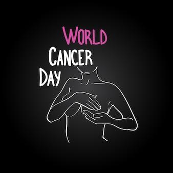 Światowy dzień zapobiegania chorobie piersiowej choroba piersiowa plakat greeting card