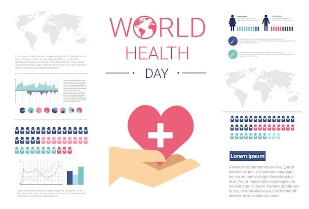 Światowy dzień zdrowia globalny święto banner z miejsca kopiowania