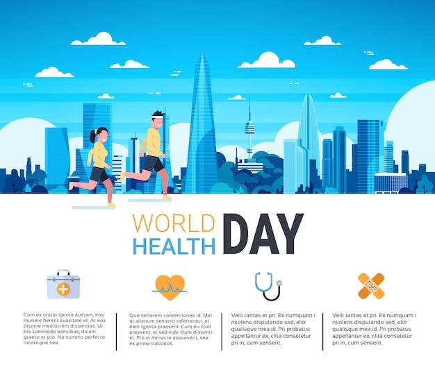 Światowy dzień zdrowia infografika