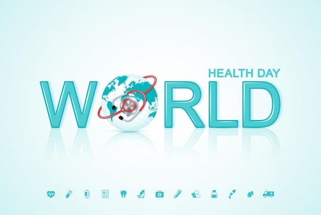 Światowy dzień zdrowia koncepcja opieki zdrowotnej i medycznej