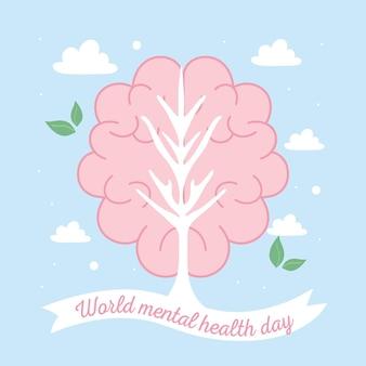 Światowy dzień zdrowia psychicznego ludzki mózg