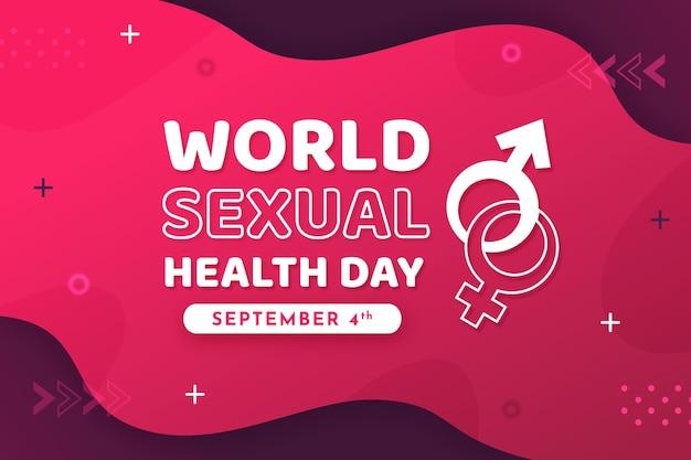 Światowy dzień zdrowia seksualnego ilustracja