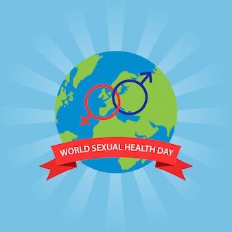 Światowy dzień zdrowia seksualnego koncepcja na białym tle.