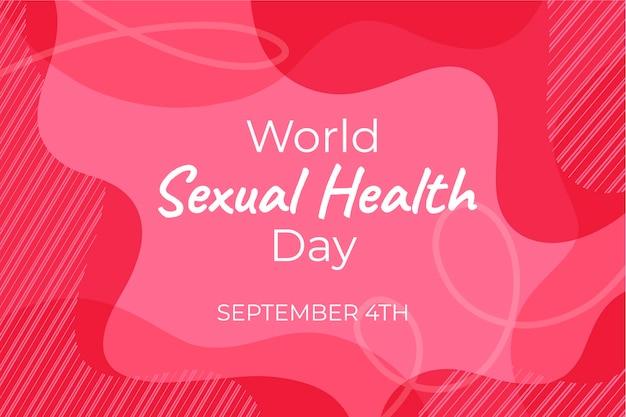 Światowy dzień zdrowia seksualnego różowy faliste tło