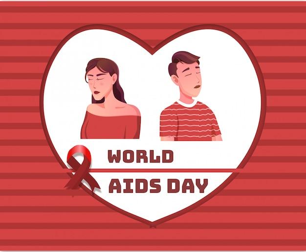 Światowy dzień zdrowia seksualnego z czerwoną wstążką