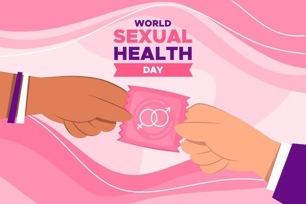 Światowy dzień zdrowia seksualnego z prezerwatywą