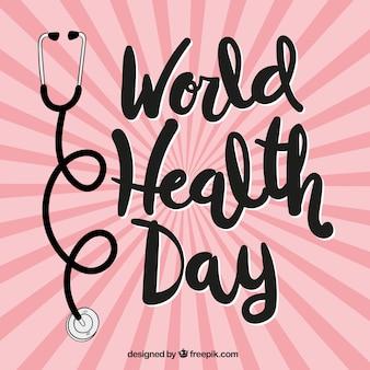 Światowy dzień zdrowia sunburst tle