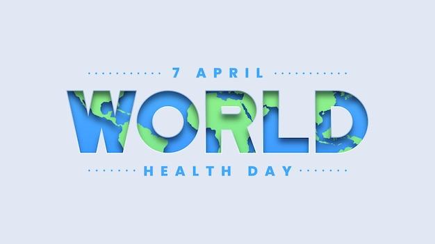 Światowy dzień zdrowia tło typografii