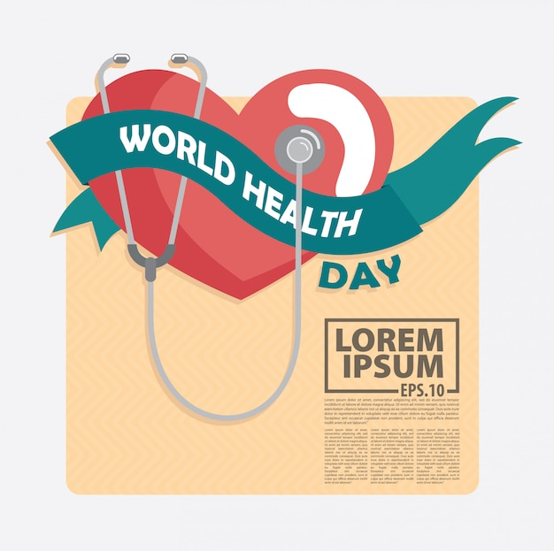 Światowy dzień zdrowia tło wektor
