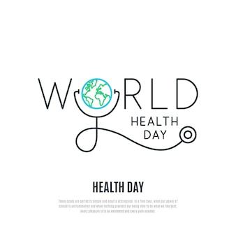 Światowy dzień zdrowia transparent wektor