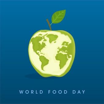 Światowy dzień zdrowia zielone jabłko baner