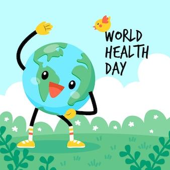 Światowy dzień zdrowia ziemia robi cardio